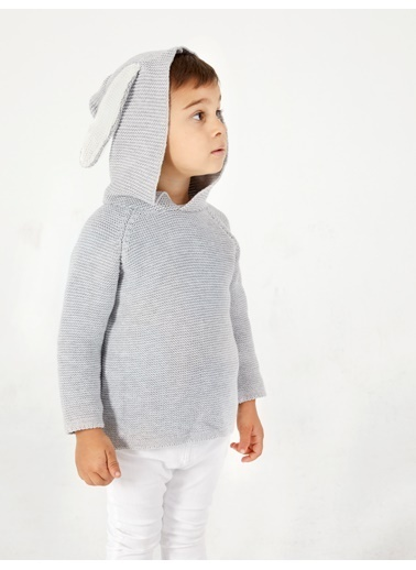 Pinolini Tavşan Kulaklı Sewatshirt Gri